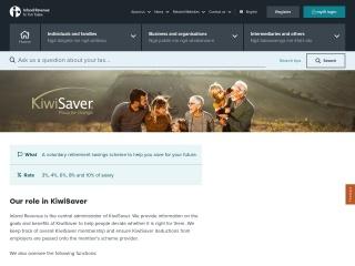 Screenshot for kiwisaver.govt.nz
