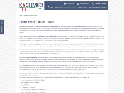 Wool Fabric Suppliers in India