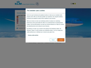 Screenshot for klm.com
