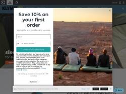 Klymit screenshot