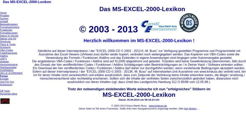 www.kmbuss.de Vorschau, Das Excel-2000-Lexikon