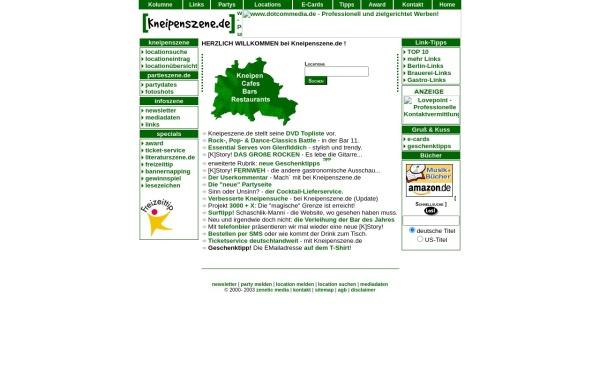 Vorschau von www.kneipenszene.de, Kneipenszene