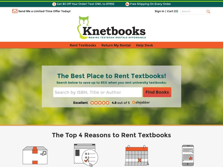 Save 3% Off Orders at Knetbooks.com
