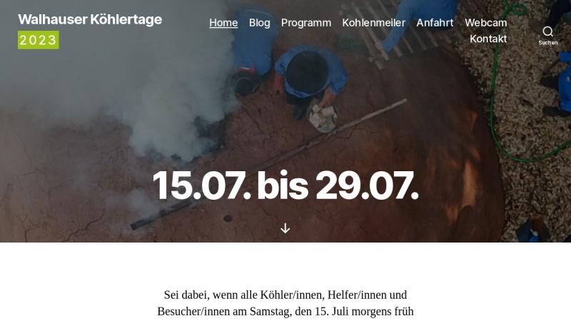 www.koehlertage.de Vorschau, Köhlertage Walhausen