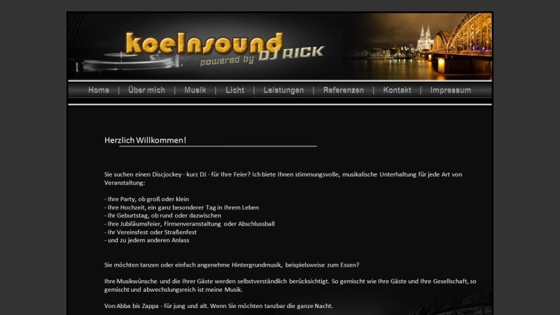 www.koelnsound.de Vorschau, Koelnsound