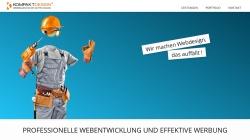 www.kompaktdesign.de Vorschau, Werbe- und Webagentur Kompaktdesign