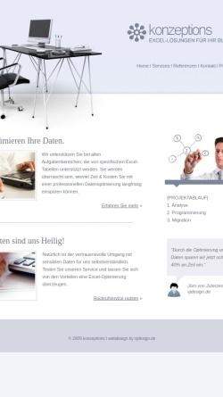 Vorschau der mobilen Webseite www.konzeptions.de, Konzeptions Excel Solutions - Hanno Klamp