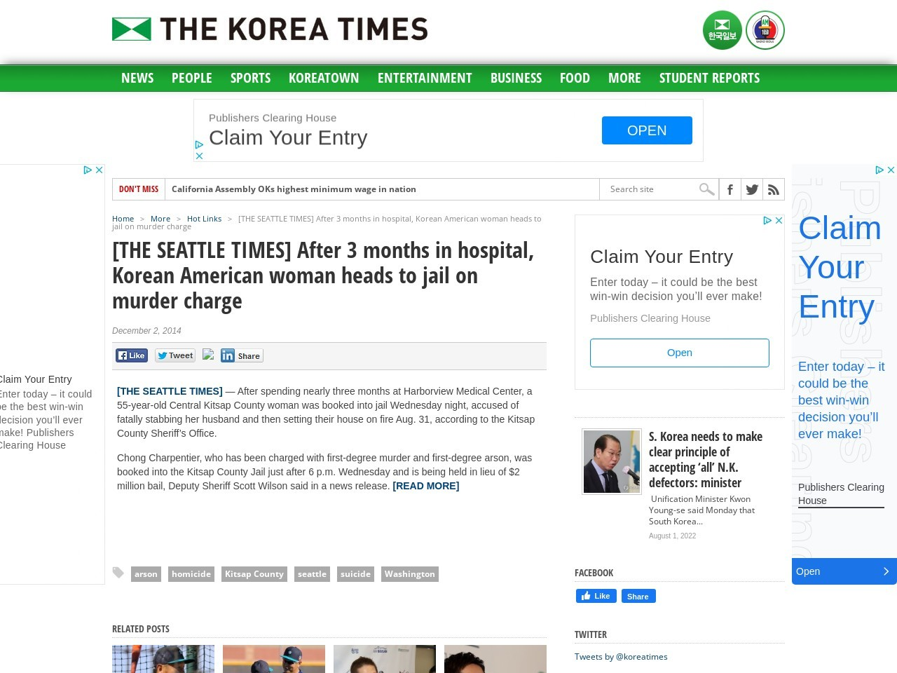 [THE SEATTLE TIMES] After 3 months in hospital, Korean American woman …