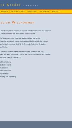 Vorschau der mobilen Webseite www.krader-online.de, Redaktionsbüro Claudia Krader
