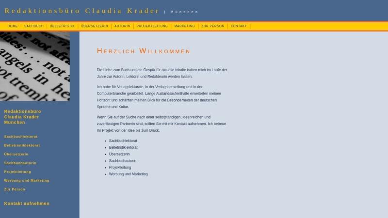 www.krader-online.de Vorschau, Redaktionsbüro Claudia Krader