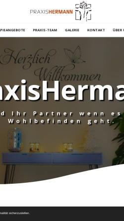 Vorschau der mobilen Webseite www.krankengymnastikpraxis-hermann.de, Praxis Hermann