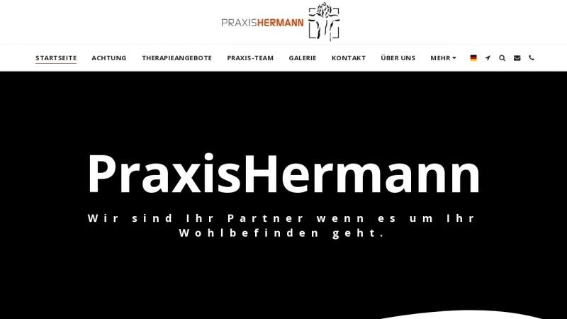 www.krankengymnastikpraxis-hermann.de Vorschau, Praxis Hermann