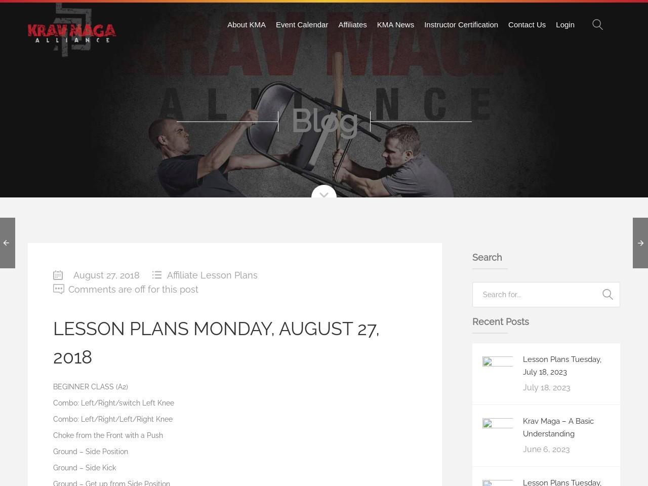 Lesson Plans Monday, August 27, 2018