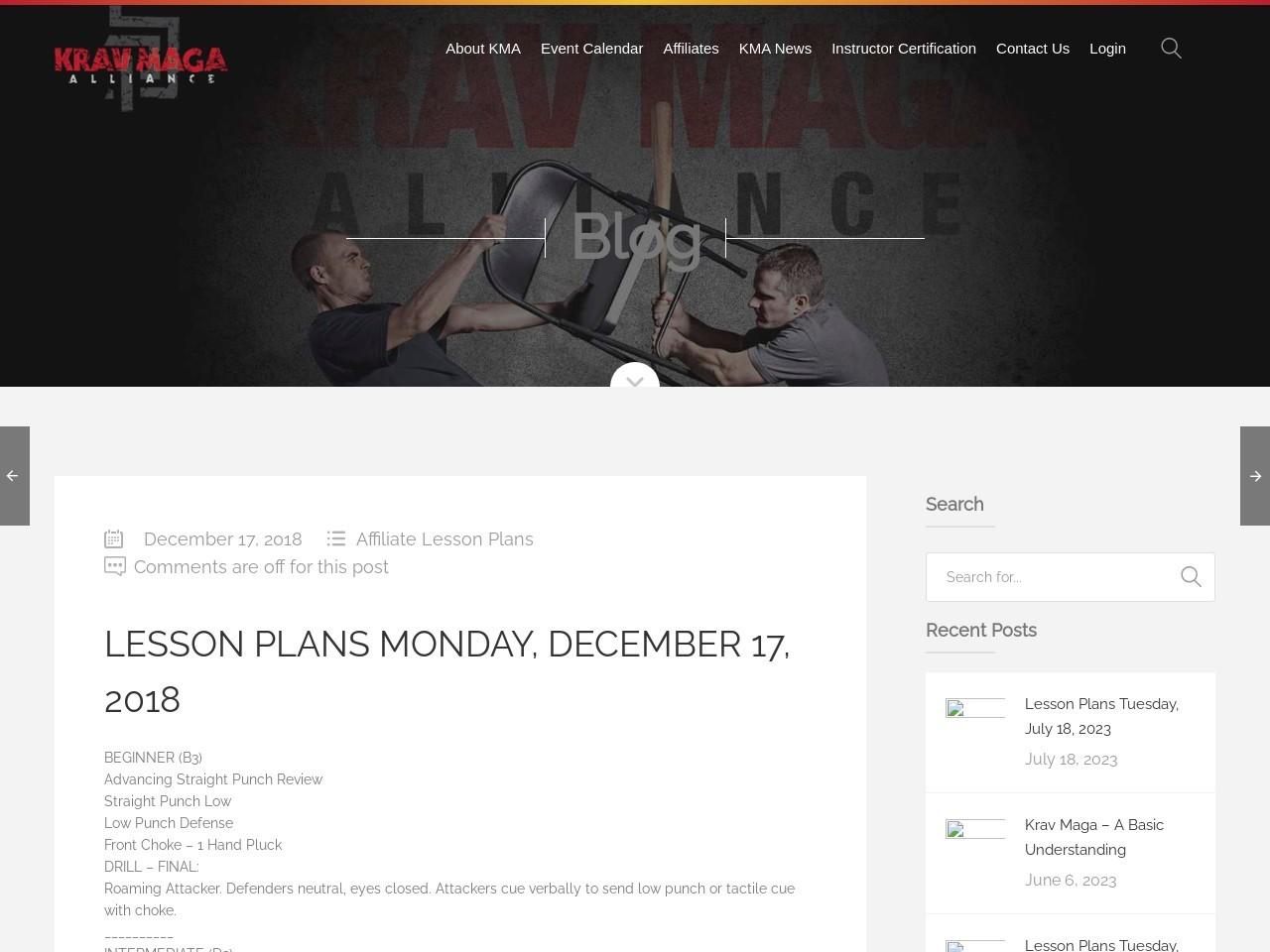 Lesson Plans Monday, December 17, 2018
