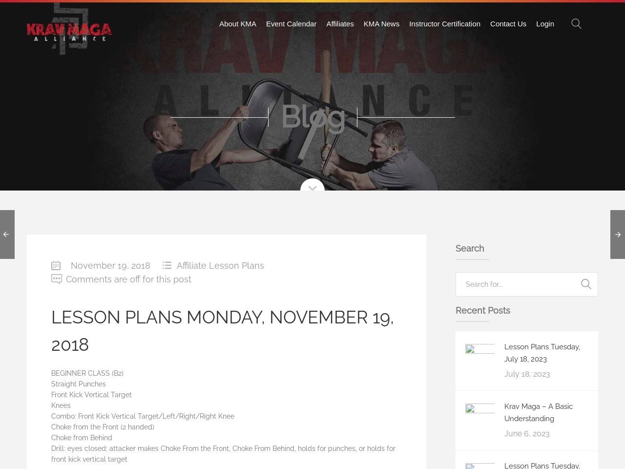 Lesson Plans Monday, November 19, 2018