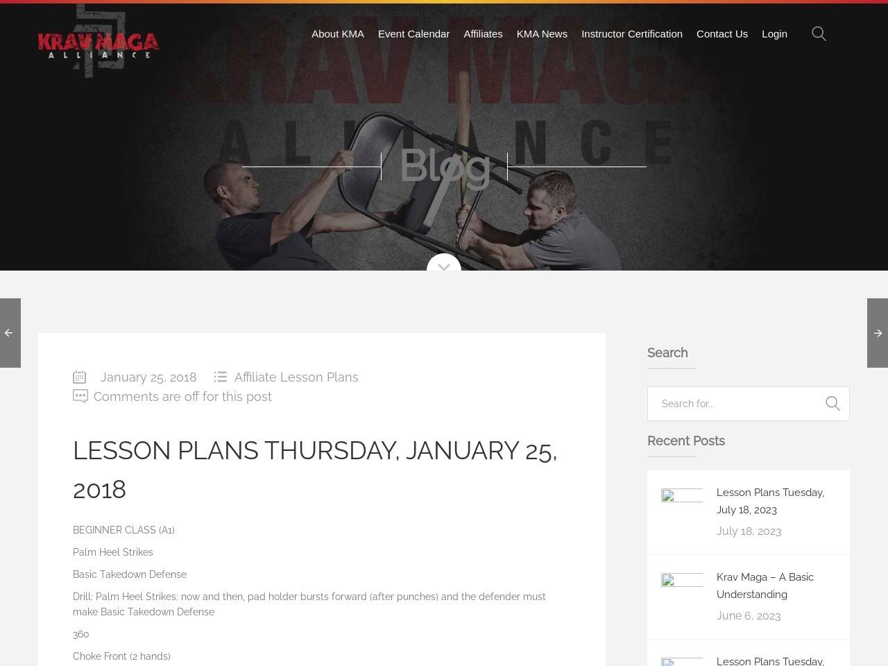 Lesson Plans Thursday, January 25, 2018