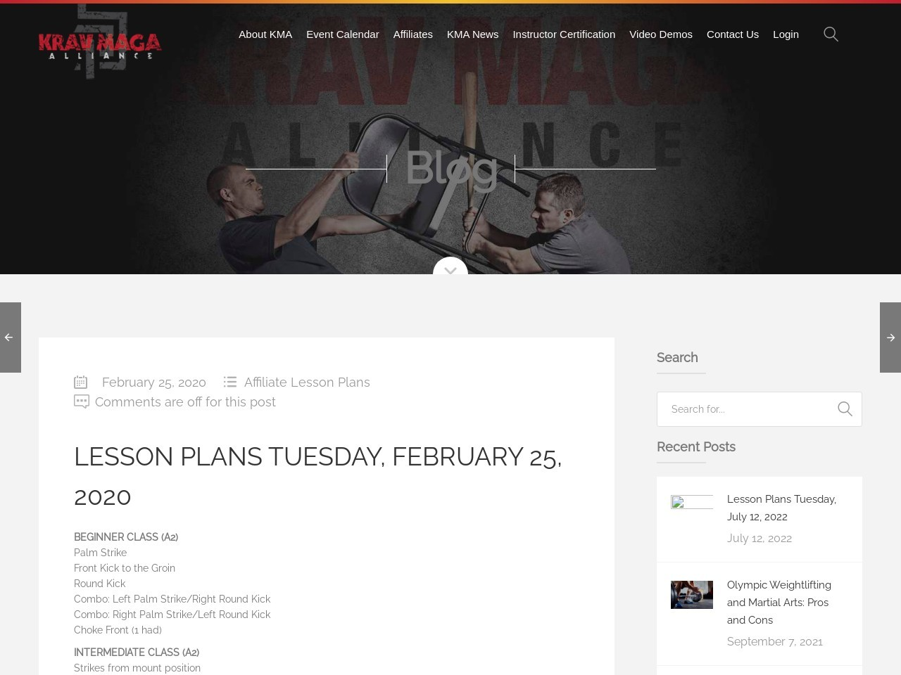 Lesson Plans Tuesday, February 25, 2020