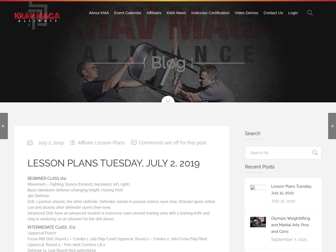 Lesson Plans Tuesday, July 2, 2019