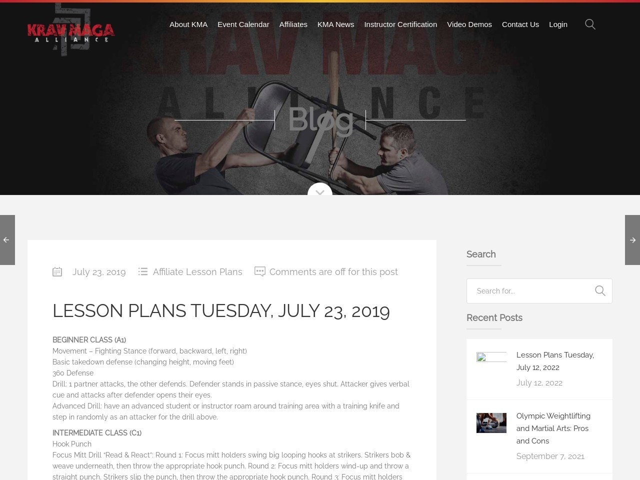 Lesson Plans Tuesday, July 23, 2019