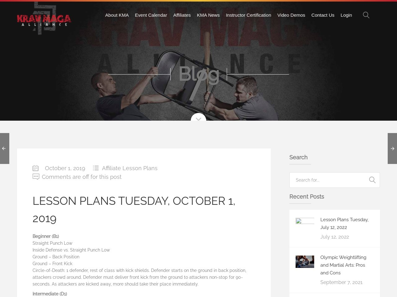 Lesson Plans Tuesday, October 1, 2019
