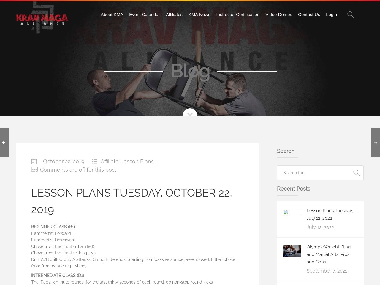 Lesson Plans Tuesday, October 22, 2019