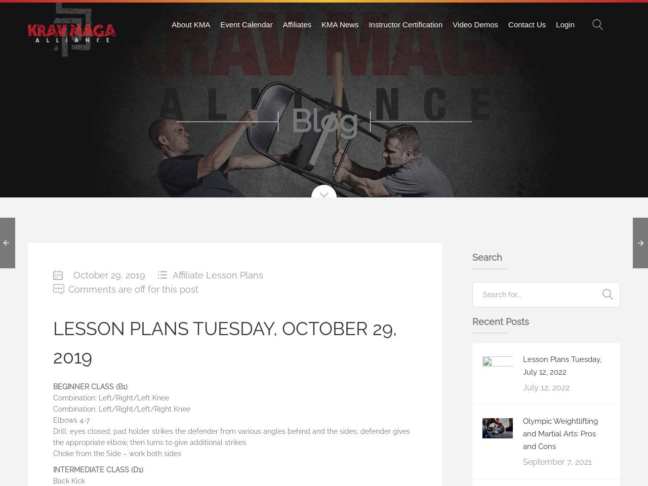 Lesson Plans Tuesday, October 29, 2019