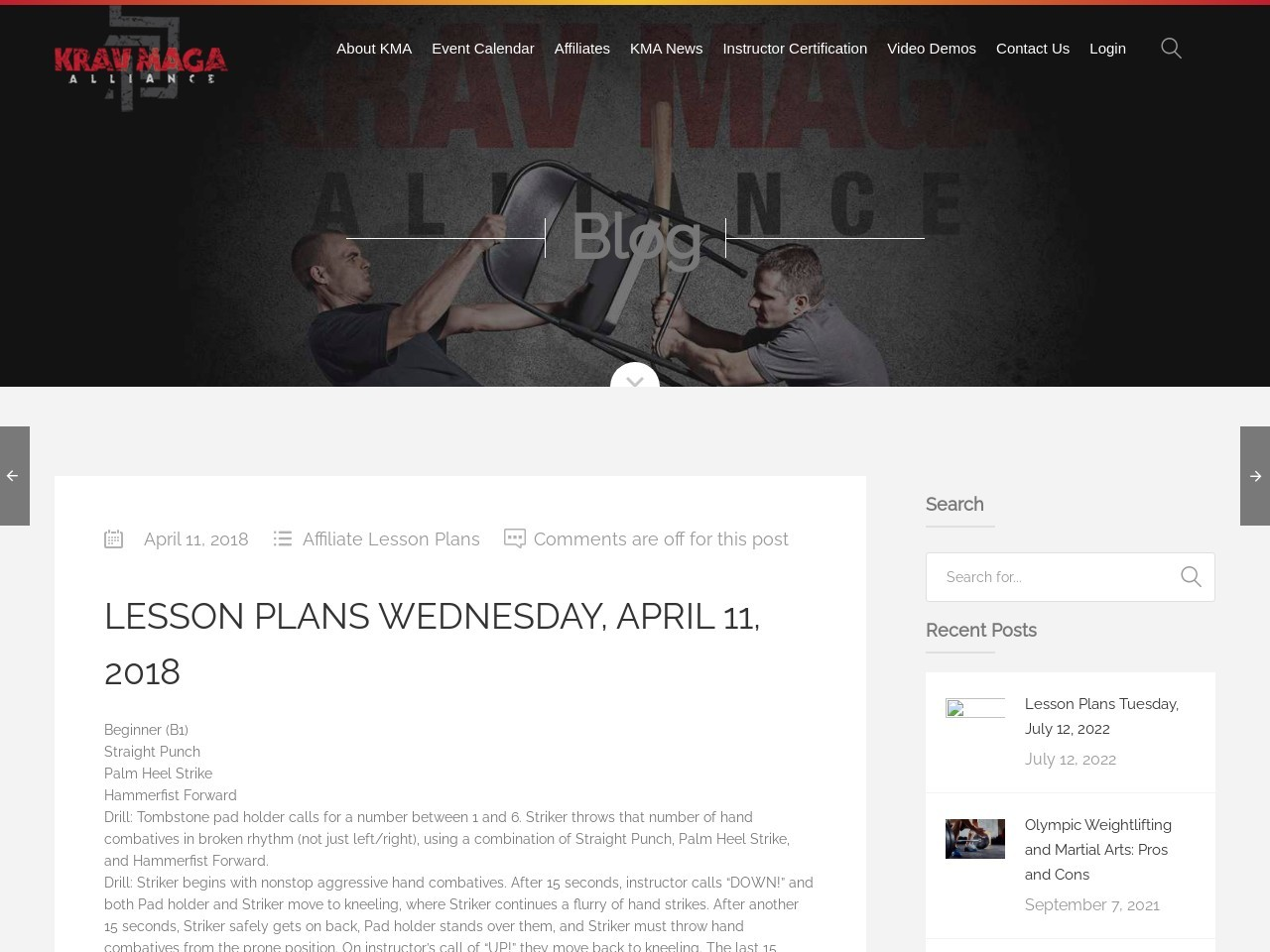 Lesson Plans Wednesday, April 11, 2018