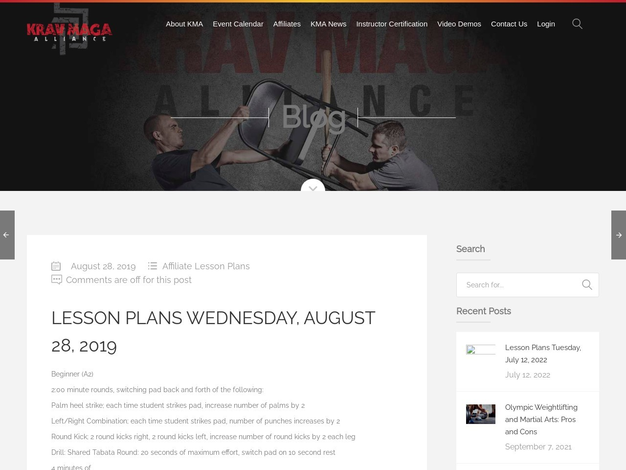 Lesson Plans Wednesday, August 28, 2019