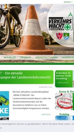Vorschau der mobilen Webseite www.kreisverkehrswacht-straubing.de, Kreisverkehrswacht Straubing e. V.