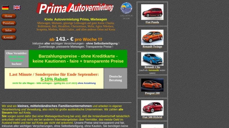 www.kreta-mietwagen.de Vorschau, Prima Autovermietung, Ierapetra
