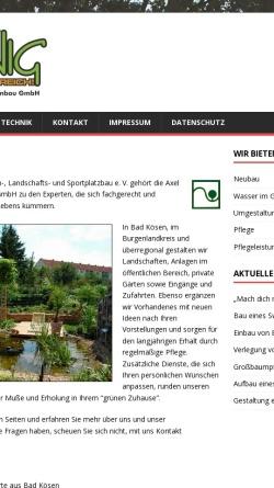 Vorschau der mobilen Webseite www.krunig.de, Axel Krunig Garten- und Grünanlagenbau GmbH