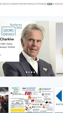 Vorschau der mobilen Webseite www.kulturforum-ome.de, Deutsches Kulturforum Östliches Europa e.V.