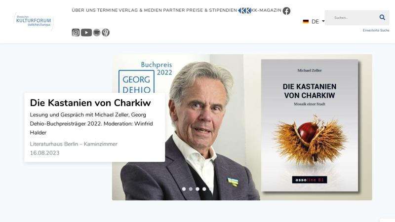 www.kulturforum-ome.de Vorschau, Deutsches Kulturforum Östliches Europa e.V.