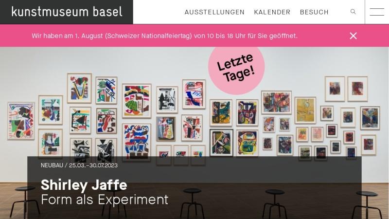 www.kunstmuseumbasel.ch Vorschau, Kunstmuseum Basel