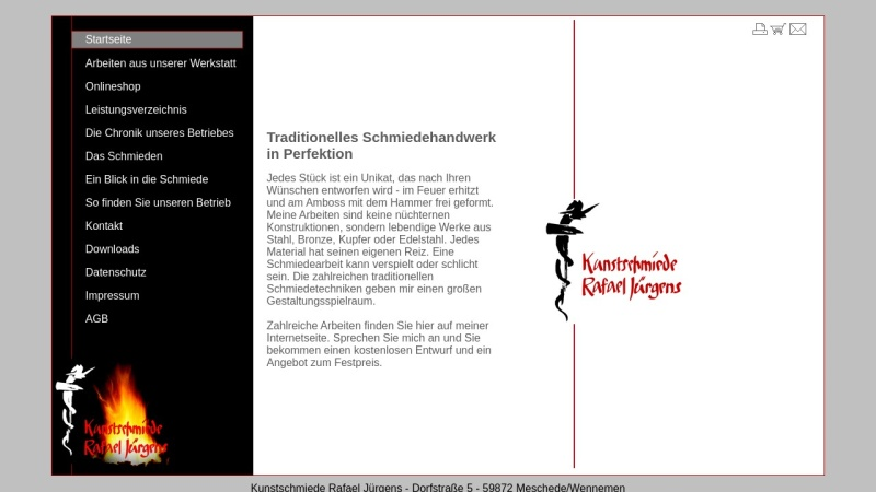 www.kunstschmiede-juergens.de Vorschau, Kunstschmiede, Heinrich Jürgens
