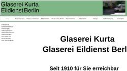 www.kurta-glaserei.de Vorschau, Glaserei Kurta