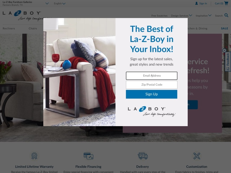 La-z-boy screenshot