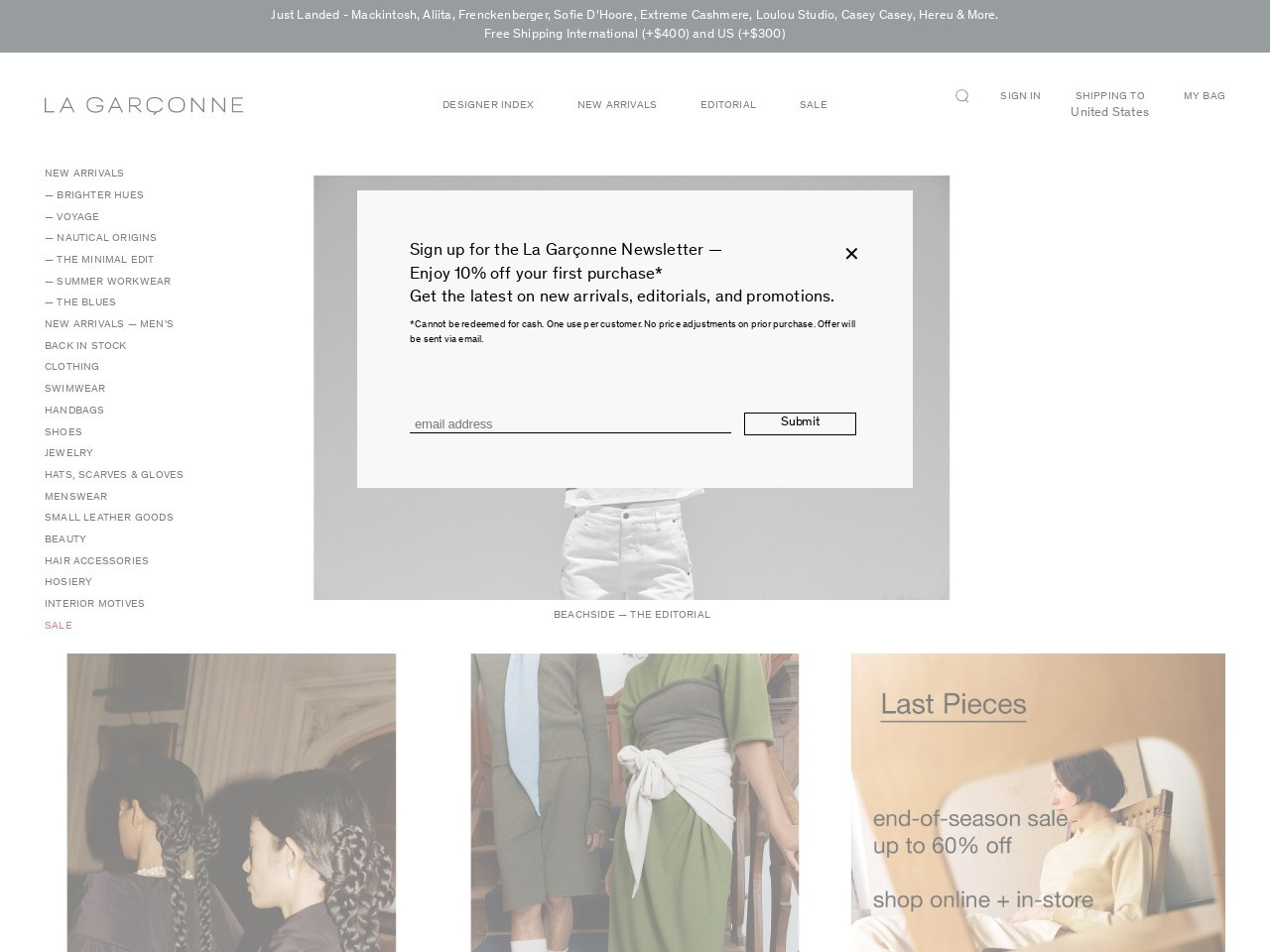 Shop at La Garconne with coupons & promo codes now