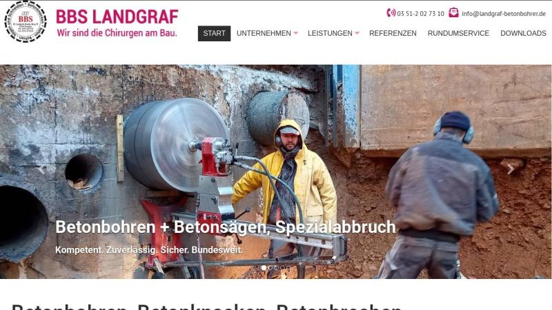 www.landgraf-betonbohrer.de Vorschau, BBS Matthias Landgraf