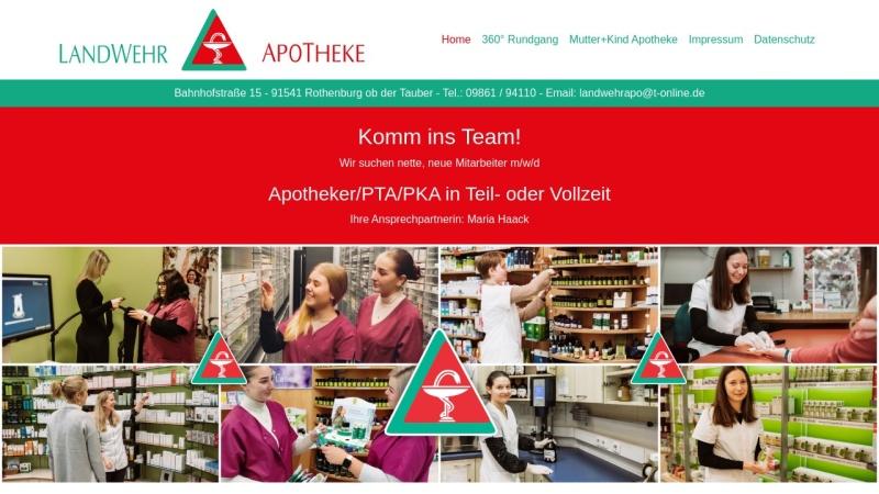www.landwehrapo.de Vorschau, Landwehr Apotheke im ZentRo