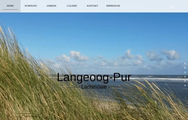 Vorschau von www.langeoog-pur.de, Langeoog Pur - Fewo Lachmöwe