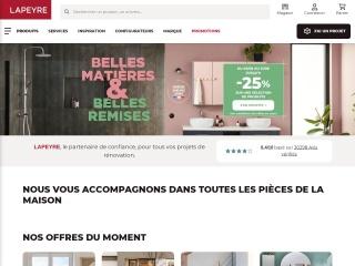 Capture d'écran pour lapeyre.fr