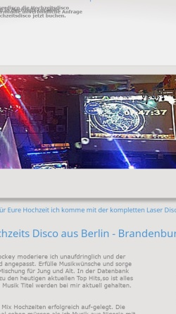 Vorschau der mobilen Webseite www.laserdisco.de, Andys Laserdisco