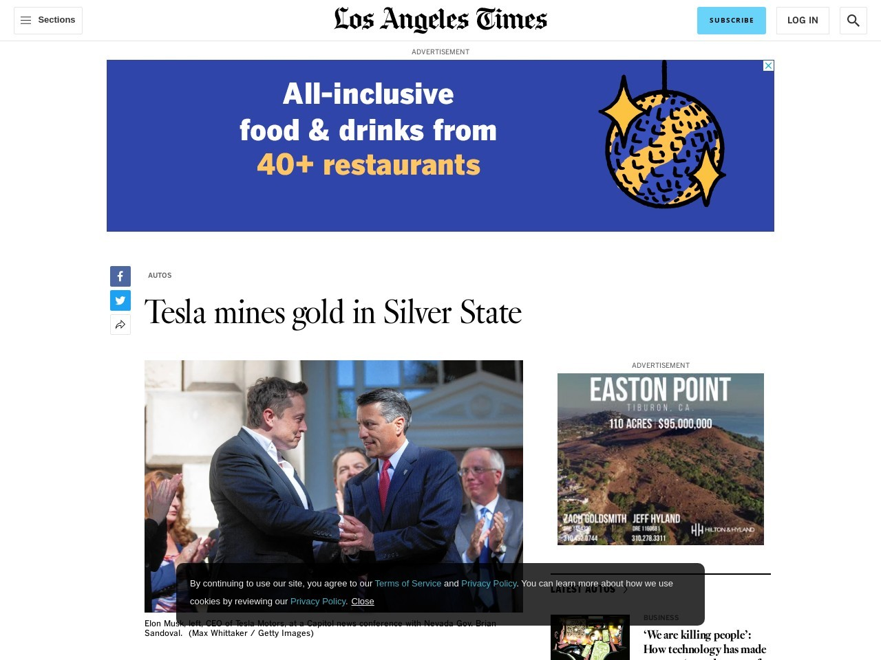 Tesla mines gold in Silver State
