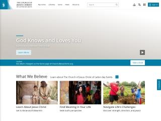 Screenshot for lds.org