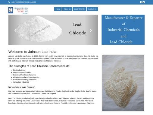 Lead Chloride Exporter, Manufacturer, Distributor, Supplier, Trader