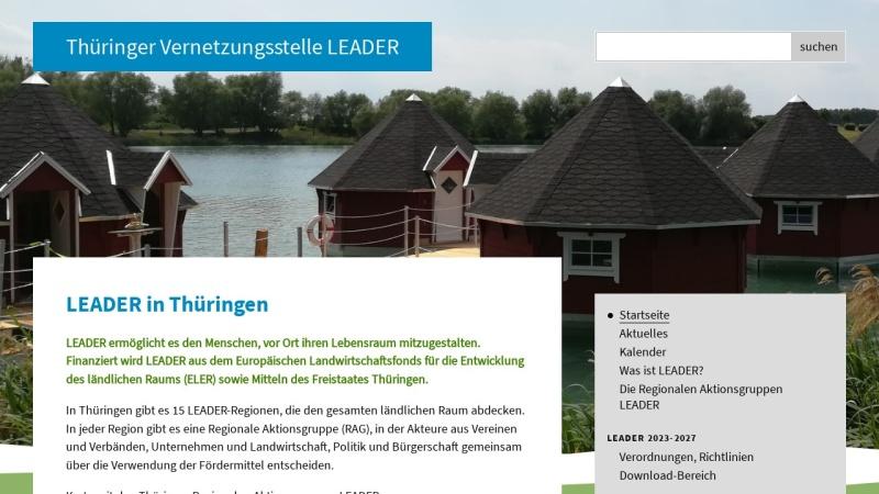 www.leader-thueringen.de Vorschau, LEADER in Thüringen