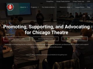Screenshot for leagueofchicagotheatres.org