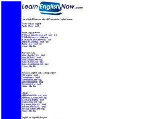screenshot learnenglishnow.com