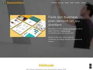 Capture d'écran pour lebusinessplan.fr